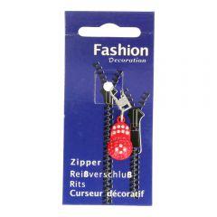 Zipper puller rhinestone - 3pcs