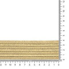 Elastic waistband 40-60mm gold - 10m