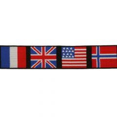 Decorative elastic flags 40mm - 10m