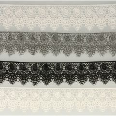 Lace trim glossy 70mm - 13.7m