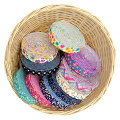 Decorative elastic colourful designs 25mm - 10m