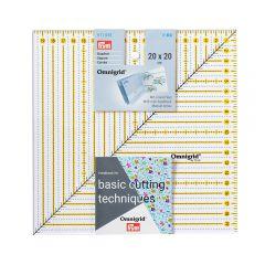 Prym Omnigrid patchwork ruler square 20x20cm - 3pcs
