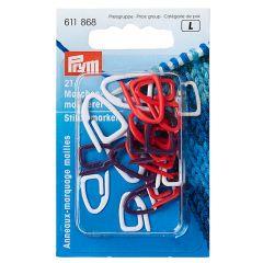 Prym Stitch markers plastic assorted - 5x21pcs