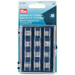 Prym Bobbin Box with 12 CB plastic bobbins - 5pcs.  X