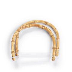 Prym Bag handles Kim 15.5x13cm bamboo - 3pcs