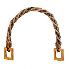 Prym Bag handles Madeleine 34cm brown-beige - 3pcs