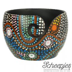 Scheepjes Yarn bowl mango wood Dot Painting - 1pc