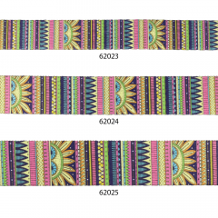 Woven printed bag straps two-sided Inka design - 22,5m