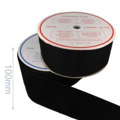 Sew-on fastening tape hook and loop 100mm - 25m