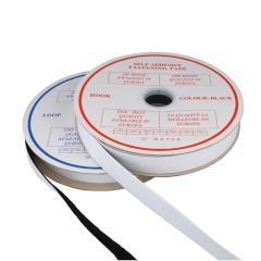 Self-adhesive fastening tape hook and loop 25mm - 20m
