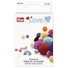 Prym Love pompom set 3.3-5-9cm mint - 3pcs