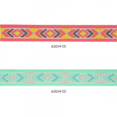 Woven elastic diamond motif 25mm - 10m