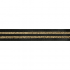 Elastic striped 38mm black-gold - 10m