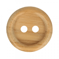 Wooden button with rim - 50pcs