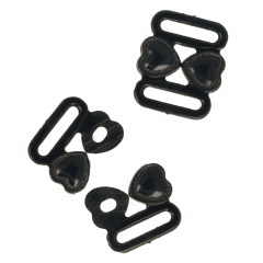 Bra clasp with heart 17mm - 25pcs