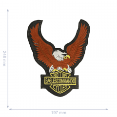 Iron-on patches bird of prey 248x197mm - 5pcs