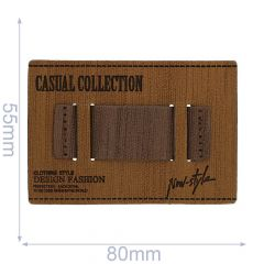 Leatherette label casual collection 80x55mm - 5pcs