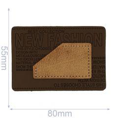 Leatherette label new fashion 80x55mm - 5pcs