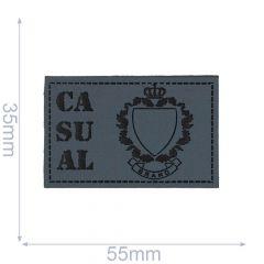 Leatherette label casual 55x35mm - 5pcs - 01