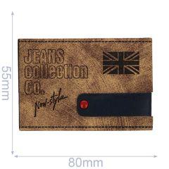 Leatherette label jeans collection 80x55mm - 5pcs