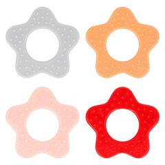 Opry Teething ring star with grips 65mm - 8pcs - AST