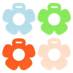 Opry Teething ring flower open 65mm - 8pcs - AST