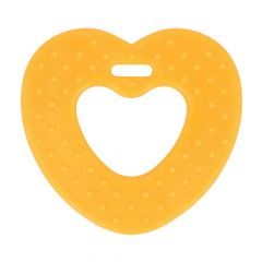 Opry Teething ring heart with grips 65mm - 5pcs