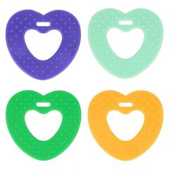 Opry Teething ring heart with grips 65mm - 8pcs - AST