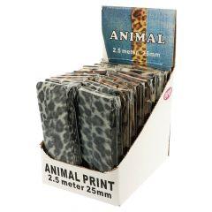 Opry Ribbon animal print display 4x5 designs - 1pc