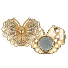 Decorative brooch magnetic butterfly 45mm - 3pcs