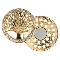 Decorative brooch magnetic tree 45mm - 3pcs