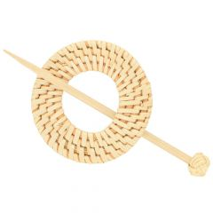 Shawl pin bamboo 80mm - 5pcs