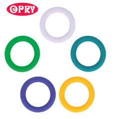 Opry Silicone teething ring round 65mm - 5pcs - AST