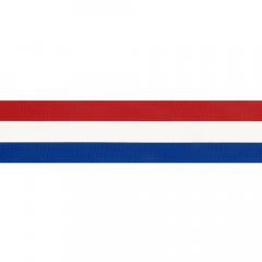 Woven ribbon Dutch flag 10-100mm - 25m
