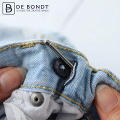Bodkin needle 6.5cm silver - 10pcs