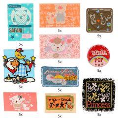 HKM Iron-on patch assortment children - 10x5pcs