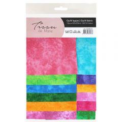 Tissu de Marie Fabric cot. clouded 12,5x12,5cm - 10pcs