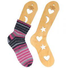 Wooden sock blockers pair size S-L brown - 2pcs