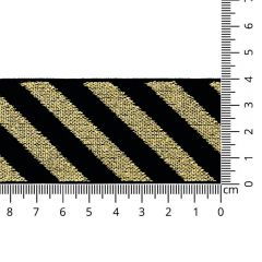 Striped elastic lurex 40mm - 10m