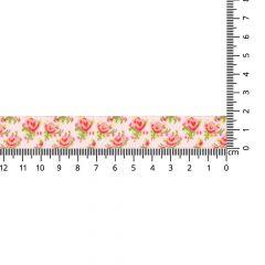 Woven ribbon roses 17mm - 24m