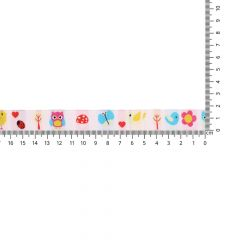 Woven ribbon animals-flowers 17mm - 25m