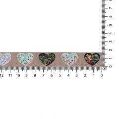Woven ribbon hearts 17mm - 25m