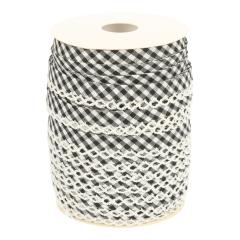 Bias binding checkered with picot edge - 25m
