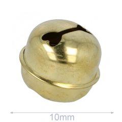 Jingle bells 10-50mm gold - 10-100pcs