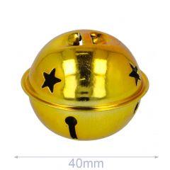 Jingle bells with stars 40-80mm gold - 5-20pcs