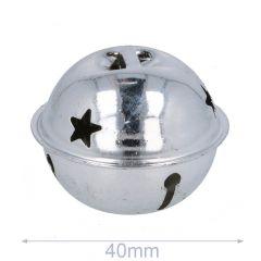 Jingle bells with stars 40-80mm silver - 5-20pcs