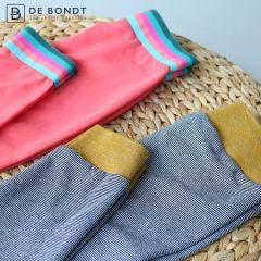 Elastic striped 20-40mm blue-pink-green - 10m