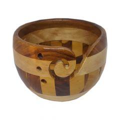 Scheepjes Yarn bowl multi wood - 1pc