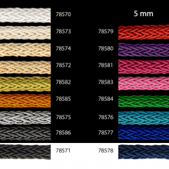 Shiny braided cord fine 5mm - 25m