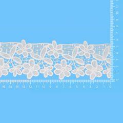 Lace trim glossy 65mm - 13.7m